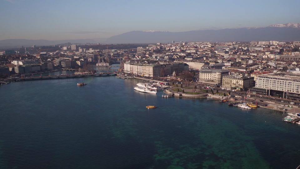 Geneva and Palexpo B-roll
