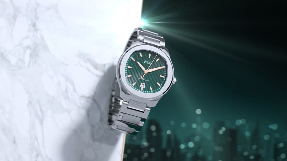 PIAGET : Piaget Polo S Green GIF
