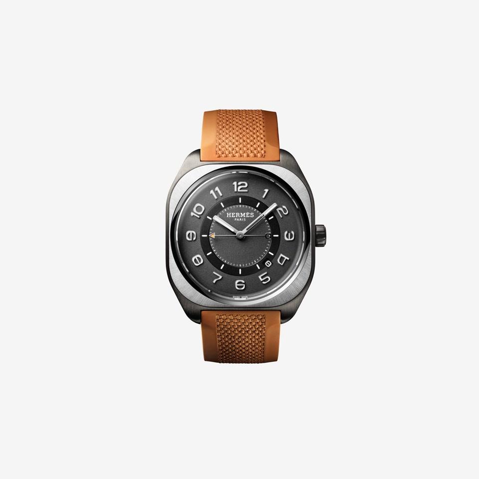 GIF Hermès H08 Titanium DLC Orange Rubber