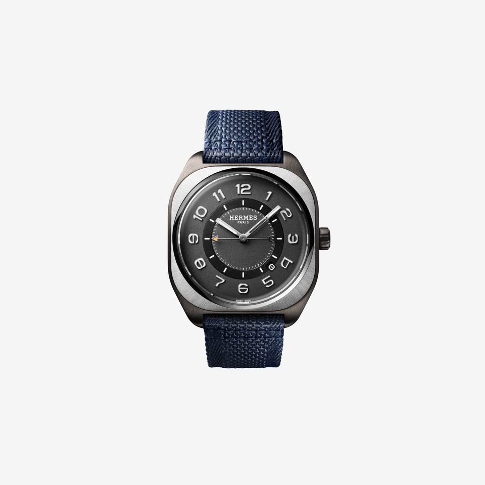 GIF Hermès H08 Titanium DLC Blue Webbing